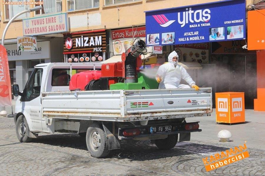 Karaman Belediyesi Yol ve Parklarda Çalışıyor 16