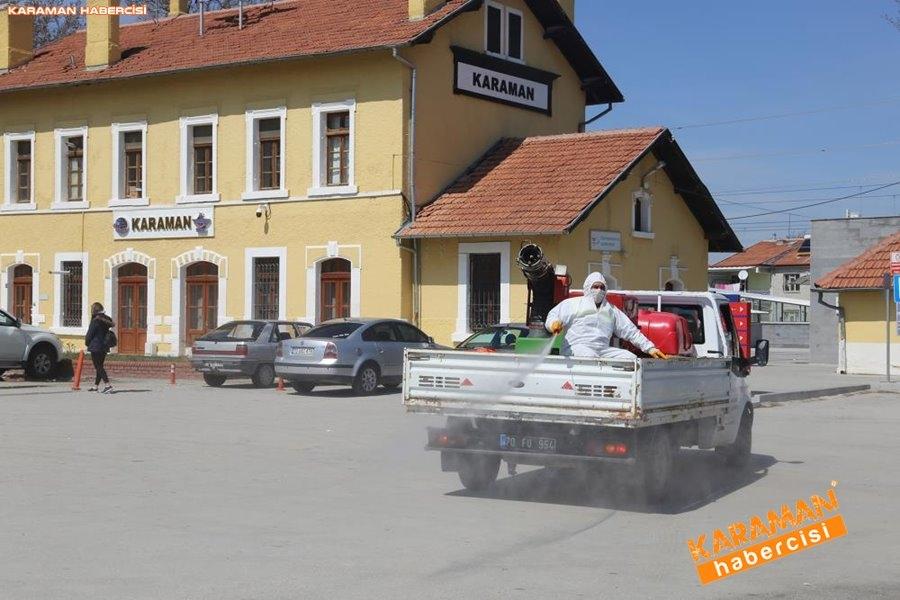Karaman Belediyesi Yol ve Parklarda Çalışıyor 18