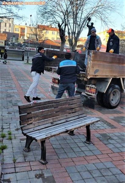 Karaman Belediyesi Yol ve Parklarda Çalışıyor 21