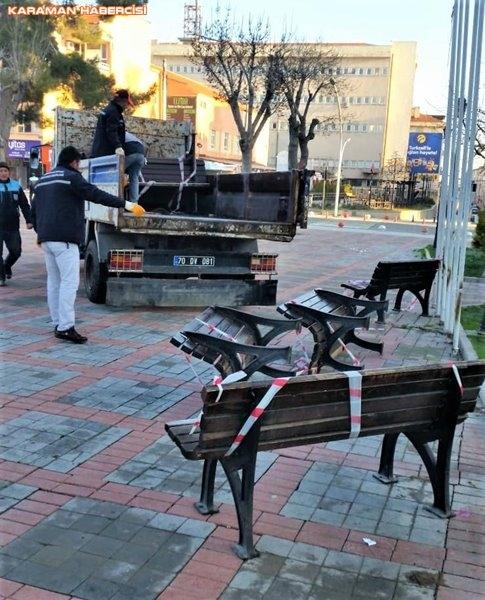 Karaman Belediyesi Yol ve Parklarda Çalışıyor 22