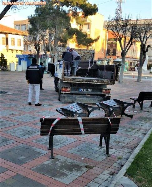 Karaman Belediyesi Yol ve Parklarda Çalışıyor 25