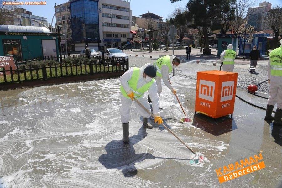 Karaman Belediyesi Yol ve Parklarda Çalışıyor 9