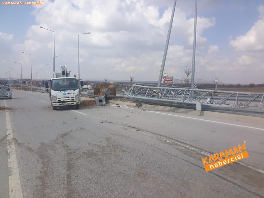 Karaman'da Açık Damper Kamyonu Devirdi 10