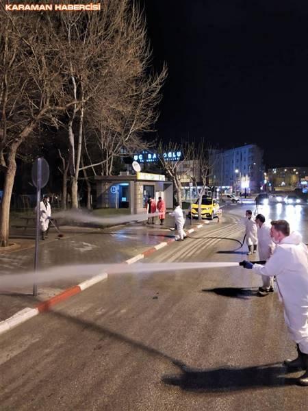 Karaman Belediyesi Korona Virüsle Mücadelede Temizliğe Devam Ediyor 8