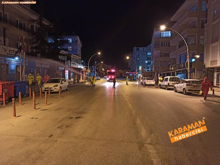 Karaman Belediyesi Korona Virüsle Mücadelede Temizliğe Devam Ediyor 9