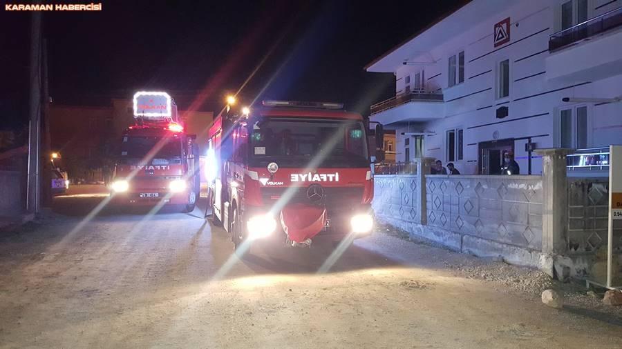 Karaman'da Ev Yangını 1