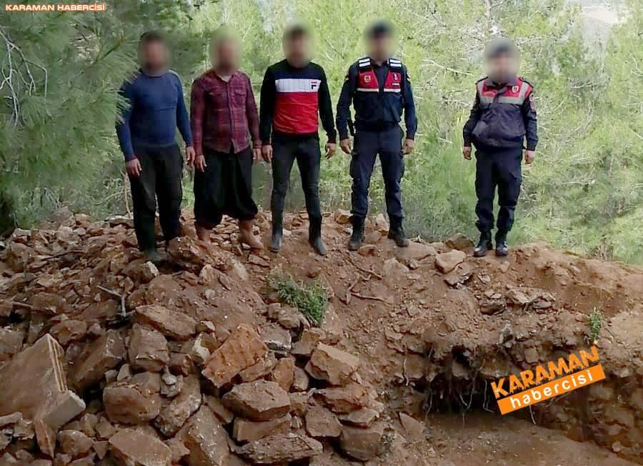 Antalya'da Kaçak Kazı Operasyonu 11