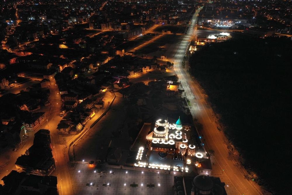 Konya'da Sessiz Gece Havadan Görüntülendi 1
