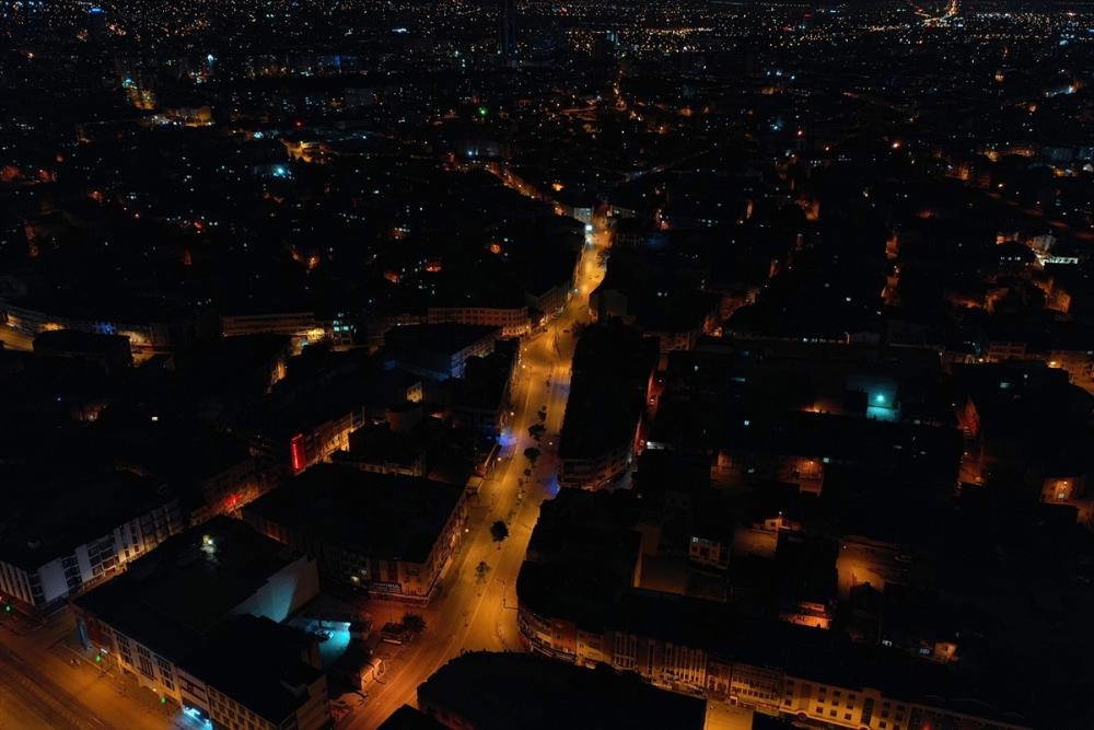 Konya'da Sessiz Gece Havadan Görüntülendi 16
