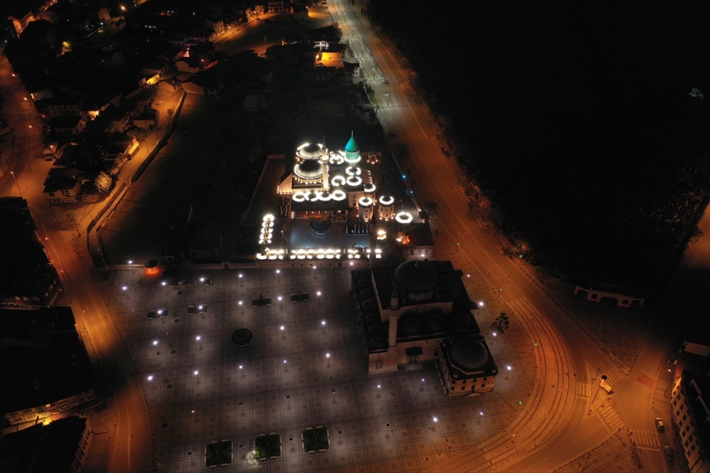 Konya'da Sessiz Gece Havadan Görüntülendi 2