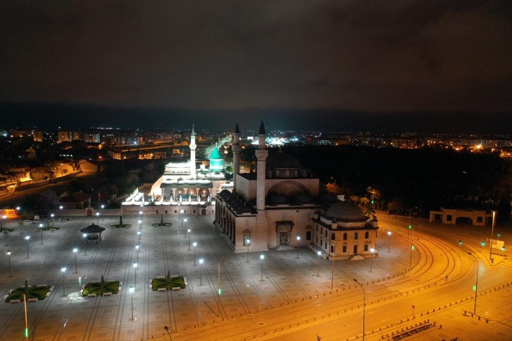 Konya'da Sessiz Gece Havadan Görüntülendi 3
