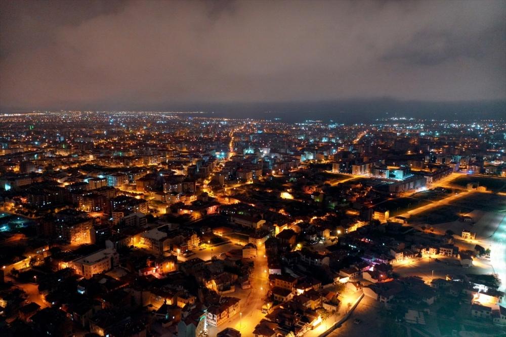 Konya'da Sessiz Gece Havadan Görüntülendi 5