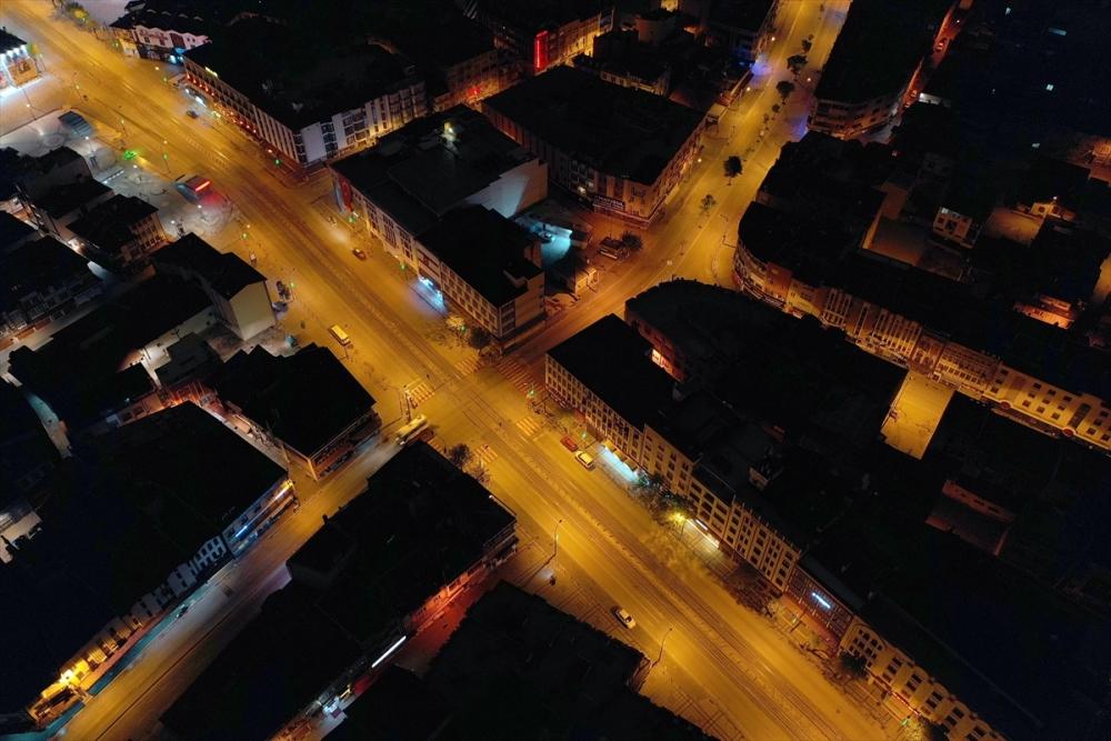 Konya'da Sessiz Gece Havadan Görüntülendi 7
