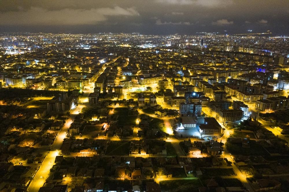 Konya'da Sessiz Gece Havadan Görüntülendi 8