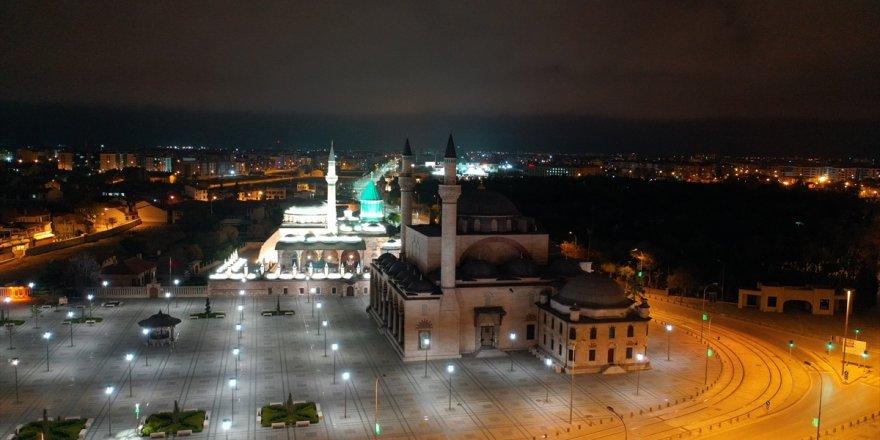 Konya'da Sessiz Gece Havadan Görüntülendi