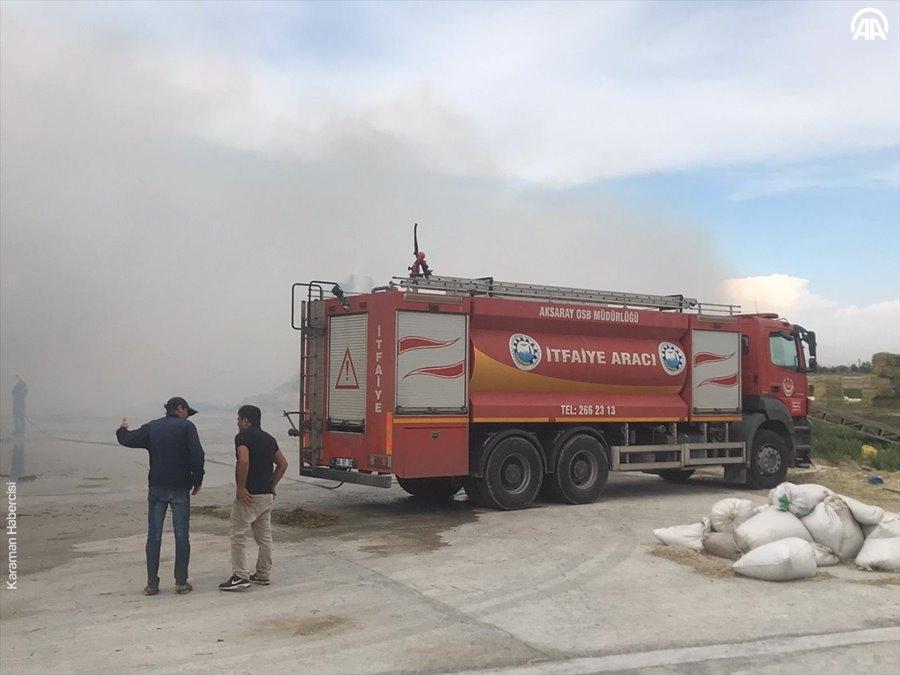 Aksaray'da Yem Fabrikası Yangını 11