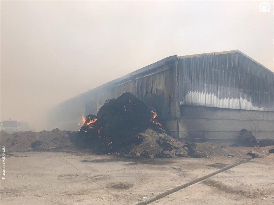 Aksaray'da Yem Fabrikası Yangını 17