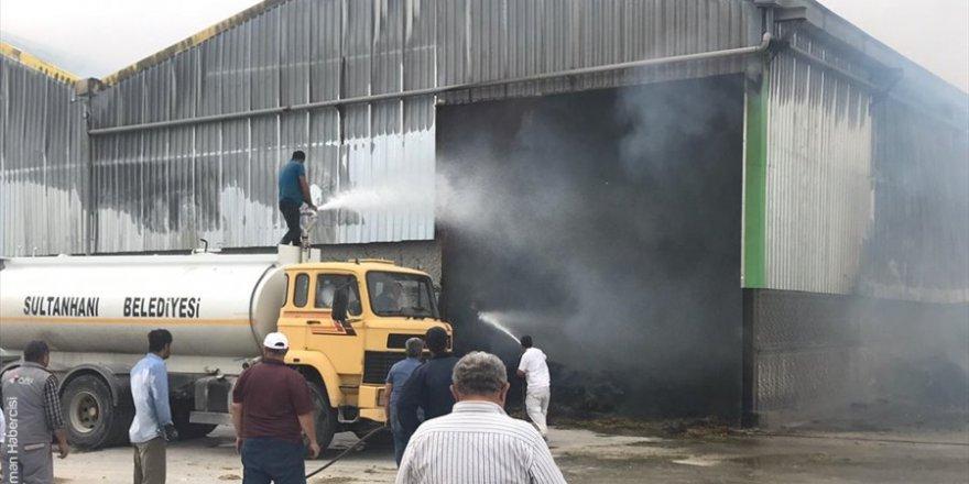 Aksaray'da Yem Fabrikası Yangını