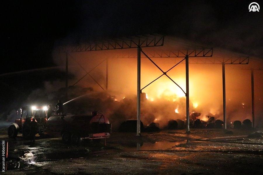 Niğde'de Hayvan Çiftliğinde Yangın 10