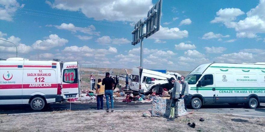 Konya Yunak'ta Trafik Kazası