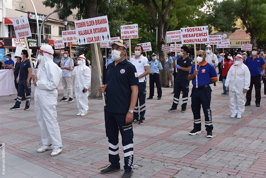 Karaman'da Pandemi Farkındalık Yürüyüşü 1