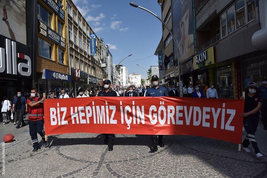 Karaman'da Pandemi Farkındalık Yürüyüşü 11