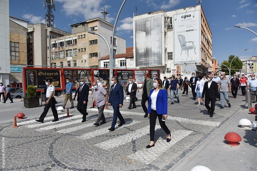 Karaman'da Pandemi Farkındalık Yürüyüşü 5