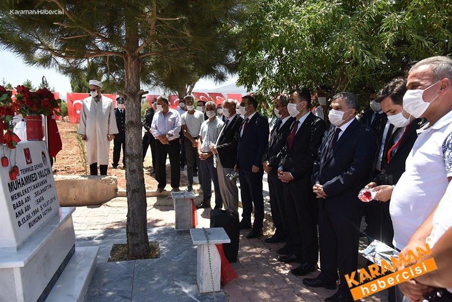 15 Temmuz Şehidi Muhammed Yalçın Kabri Başında Dualarla Anıldı 8