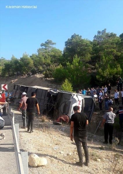 Karaman Mut Yolunda Otobüs Kazasından Adım Adım Fotoğraflar 1
