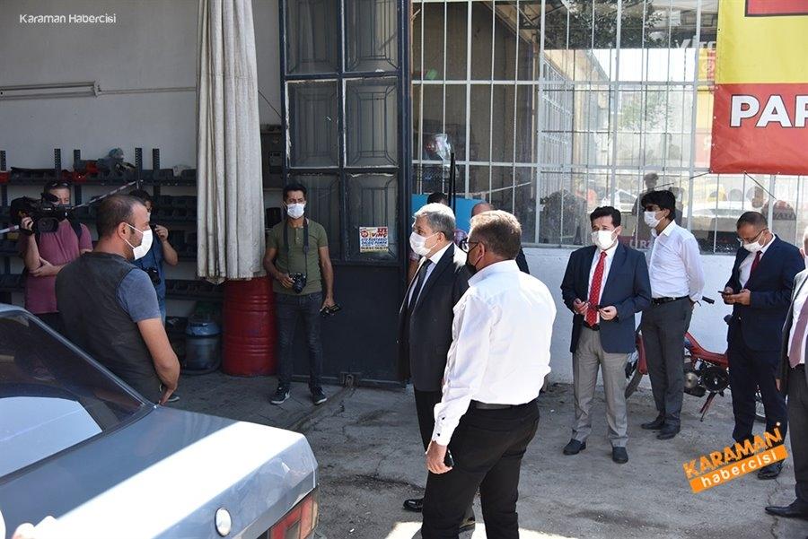 Karaman Orta Anadolu Sanayi Sitesi Korona Virüs Tedbirleri Denetimi 1