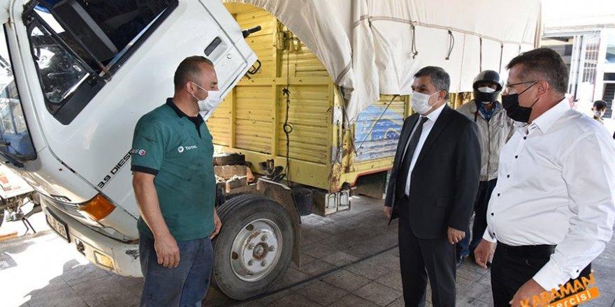 Karaman Orta Anadolu Sanayi Sitesi Korona Virüs Tedbirleri Denetimi