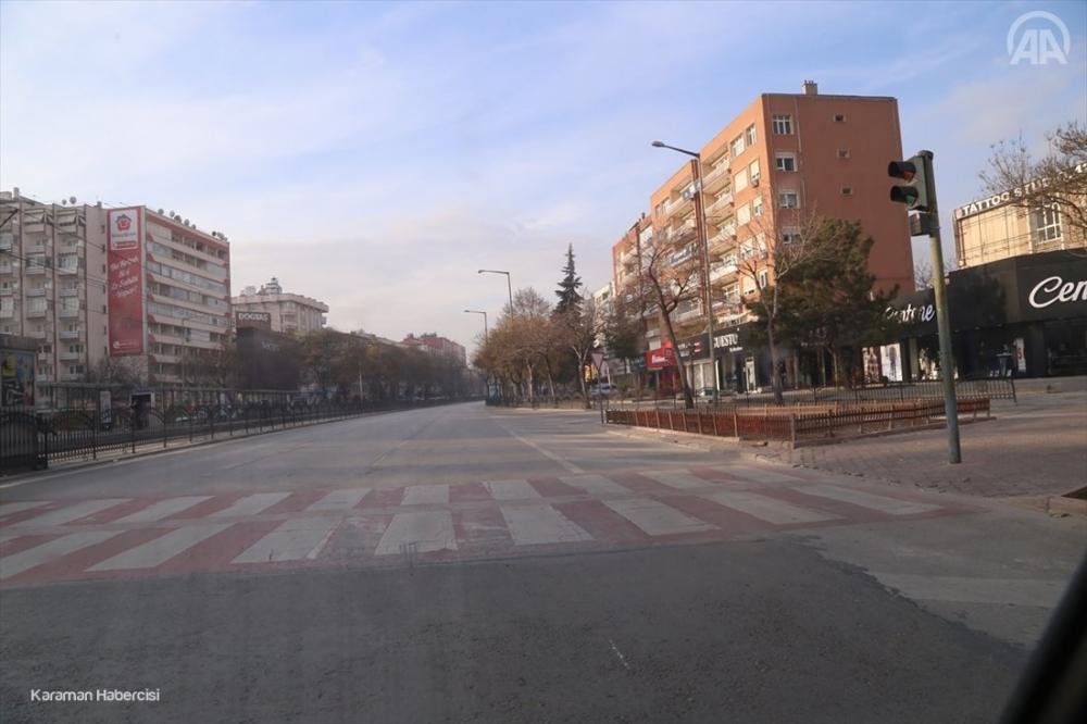 Konya'da 2021'in İlk Günü Sokaklarda Sessizlik 1