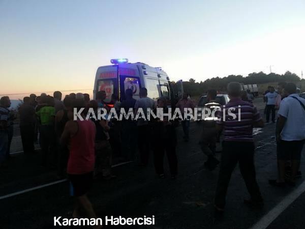 Karaman Mut Yolunda Trafik Kazası 2