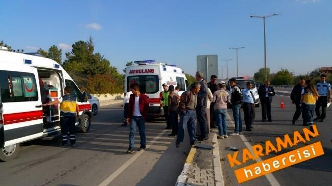 Karaman'da Trafik Kazasında Yaralanan Genç Konya'ya Sevk Edildi 2