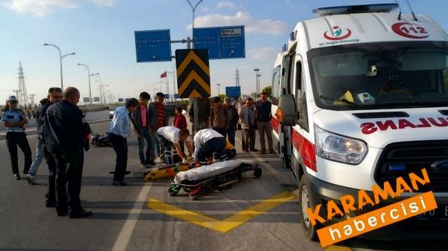 Karaman'da Trafik Kazasında Yaralanan Genç Konya'ya Sevk Edildi 4