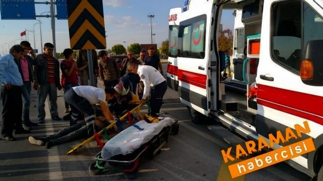 Karaman'da Trafik Kazasında Yaralanan Genç Konya'ya Sevk Edildi 6