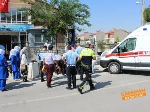 Fabrika Servisi Polis Memuruna Çarptı