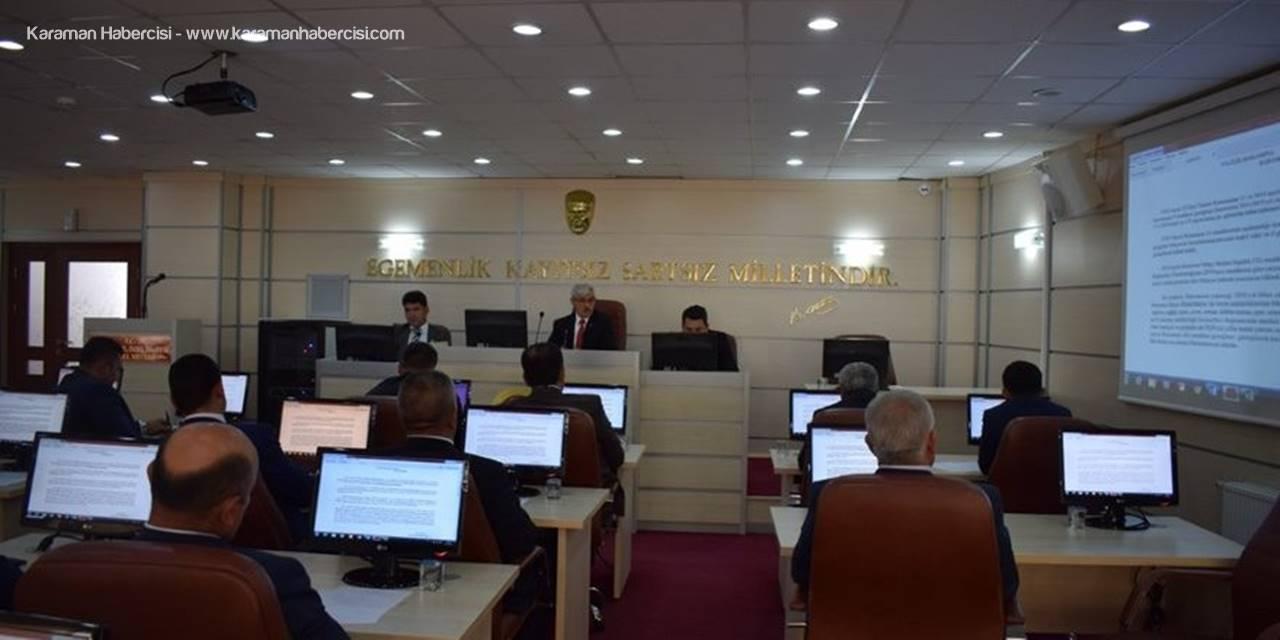 Karaman İl Genel Meclisinde Mayıs Ayı Toplantıları Başladı