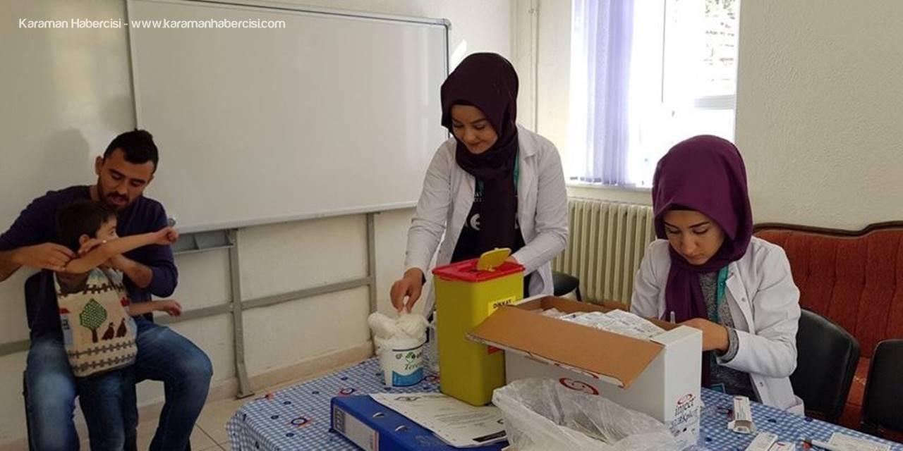 Karaman'da Merkez ve Köylere Aşılama Hizmeti