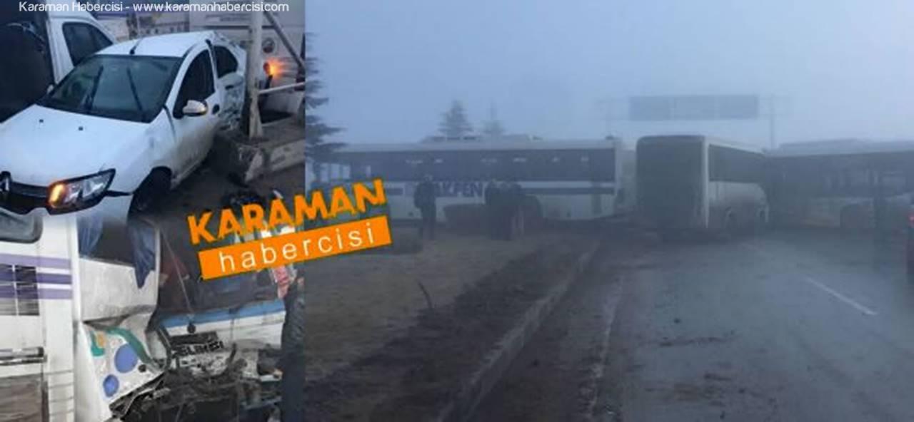 Konya'da Zincirleme Kazada Can Pazarı