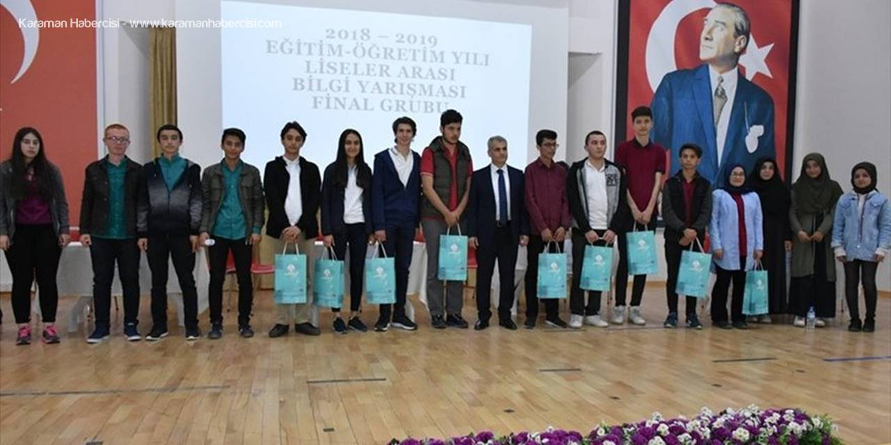 Karaman'da Liseler Arası Bilgi ve Genel Kültür Yarışması