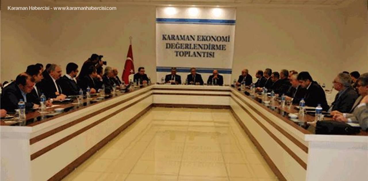 Karaman'da İl Ekonomi Toplantısı Yapıldı