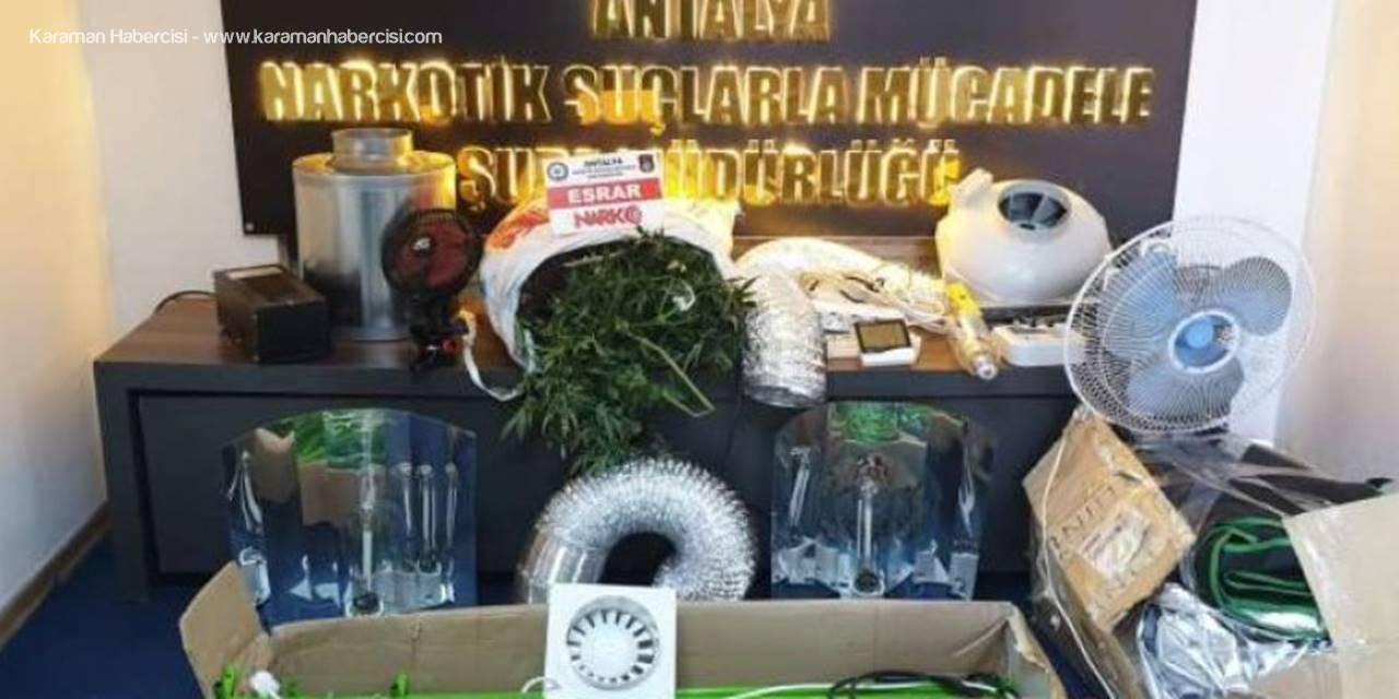 Antalya'da Döner Dürümün İçine Uyuşturucu Sakladı