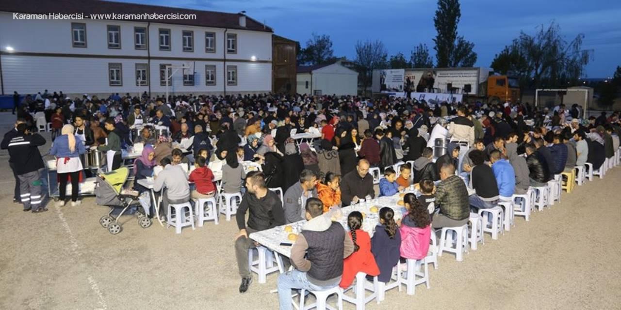 Karaman'da İftar Sofrası Bu Akşam Yeni Mahalle'de