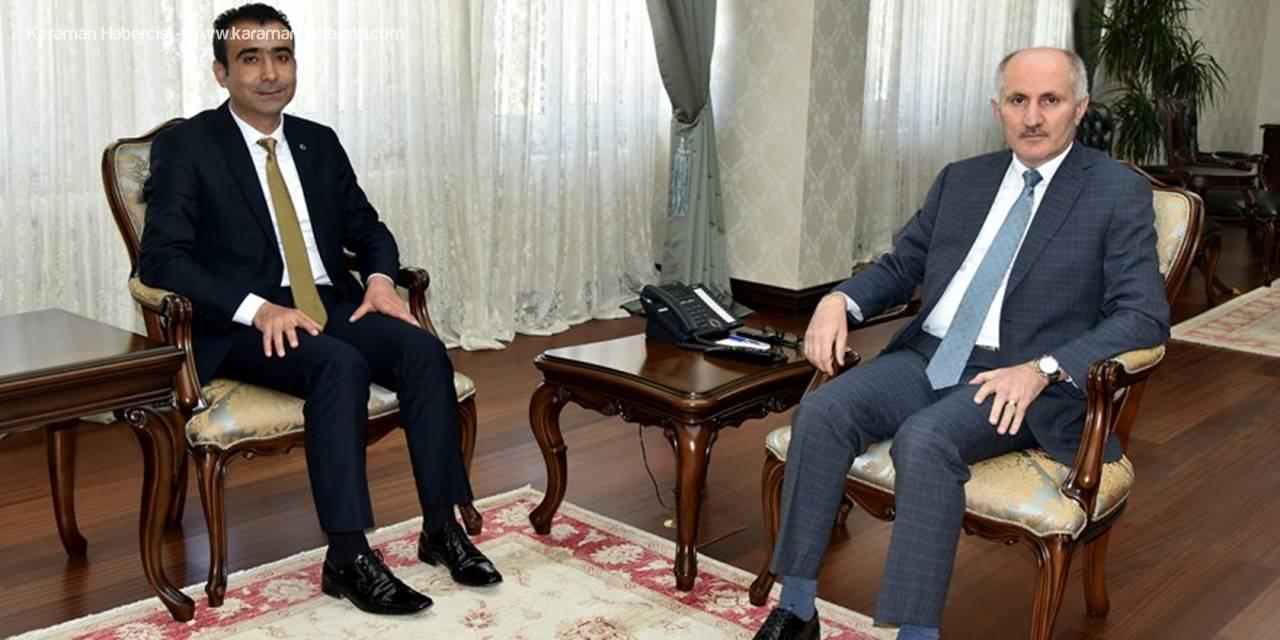 Karaman Belediye Başkanı Savaş Kalaycı'dan Nezaket Ziyareti