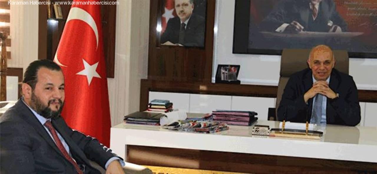 KMÜ Rektörü Akgül'den Başkan Çalışkan'a Ziyaret