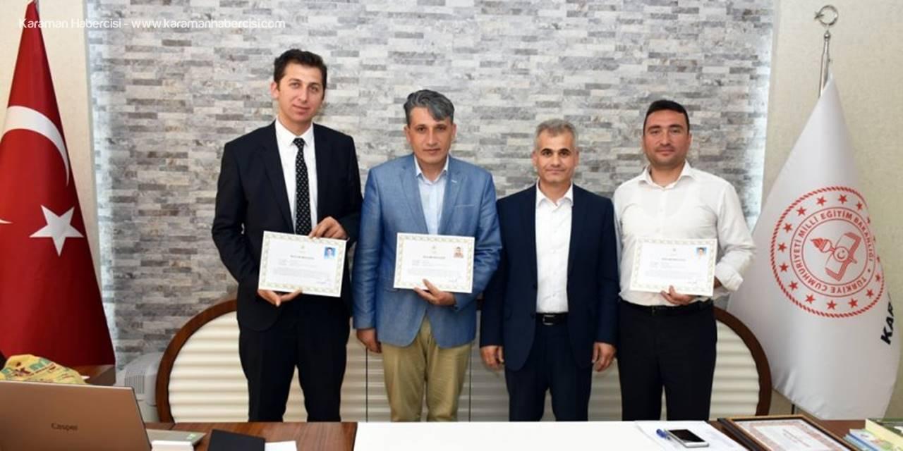 Karaman'da Başarılı Öğretmenler Ödüllendirildi