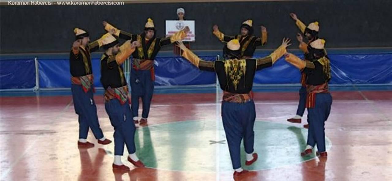 Karaman'da Halk Oyunları Yarışmaları Tamamlandı