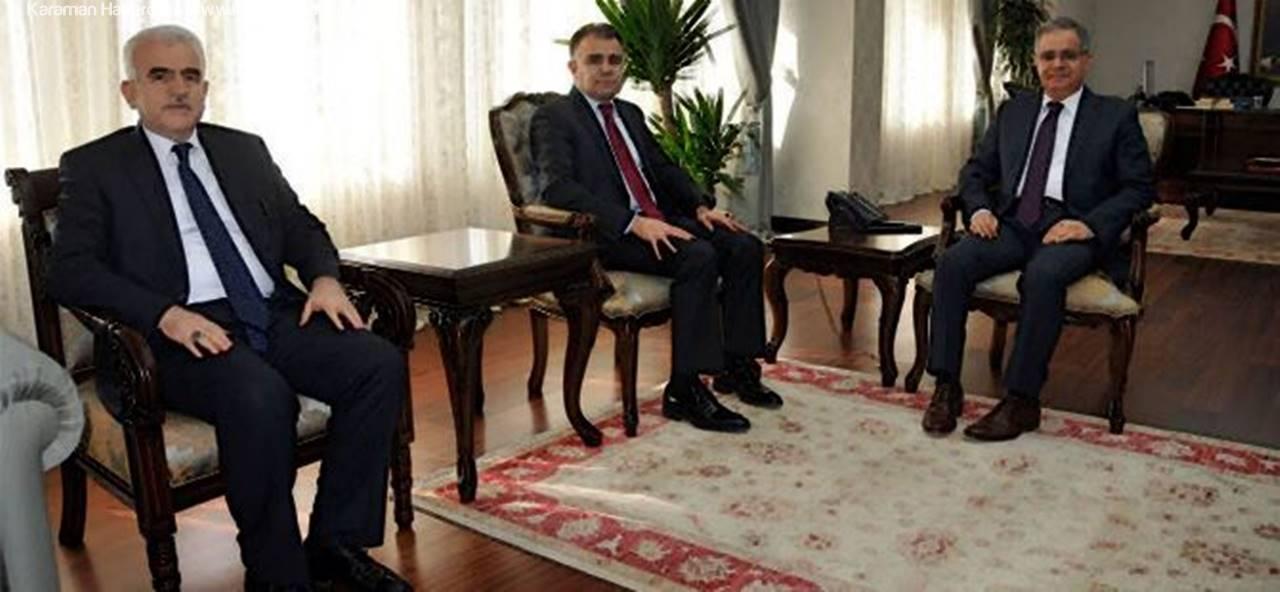 Vali Tapsız'a Halef - Selef İl Milli Eğitim Müdürlerinden Ziyaret