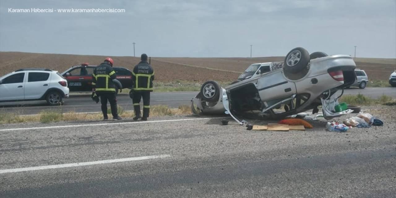 Aksaray'da Otomobil Devrildi: 6 Yaralı